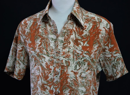 Custom Made Marble Print Button Shirt by Anto Beverly Hills in The Nice Guys