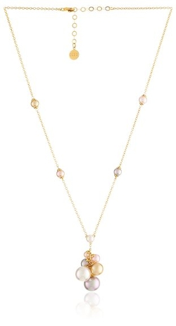 Pearl Cluster Vermail Chain Pendant Necklace by Majorica in While We're Young