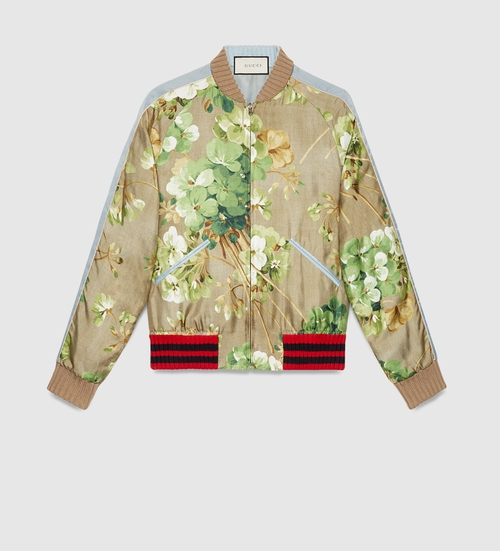 Blooms Print Bomber Jacket by Gucci in Keeping Up With The Kardashians - Season 12 Episode 13
