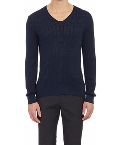 Cable-Knit Sweater by John Varvatos in Ballers