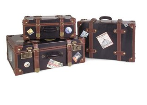 3 Piece Labeled Suitcase Set by Wildon Home in Get On Up