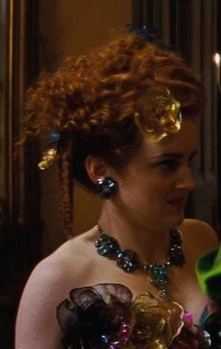 Custom Made Floral Rhinestone Necklace (Drizella) by Sandy Powell (Costume Designer) in Cinderella