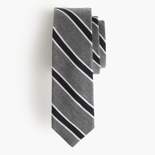 English Wool Tie in Heritage Stripe by J.Crew in Imaginary Mary