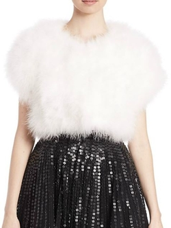 Donnelly Faux Fur Shrug by Parker Black in Scream Queens