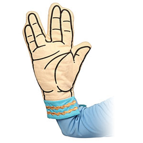 Star Trek Spock Oven Mitt by Think Geek in The Big Bang Theory - Season 9 Episode 9