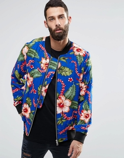Hawaiian Print Jersey Bomber Jacket by Religion in Popstar: Never Stop Never Stopping