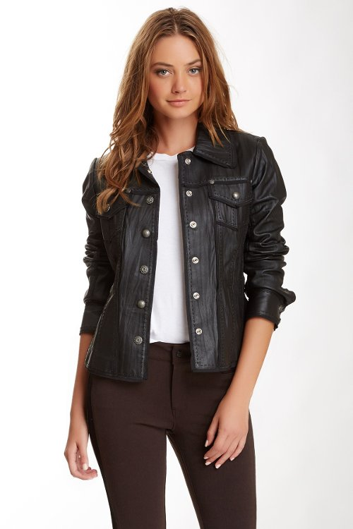 Leather Stitch Jacket by My Tribe in The Divergent Series: Insurgent