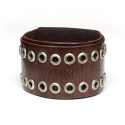 Double Layer Leather Bracelet by Idin in Wet Hot American Summer