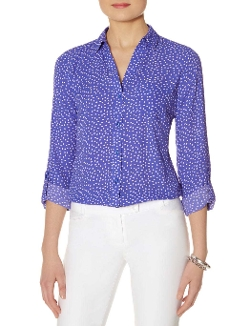 Printed Ashton Blouse by The Limited in The Longest Ride