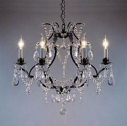 Wrought Iron Crystal Chandelier by The Gallery in The Best of Me