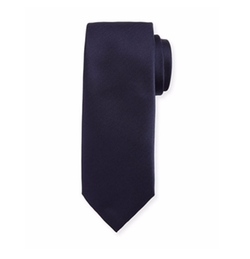 Solid Chevron Silk Tie by Brioni in House of Cards