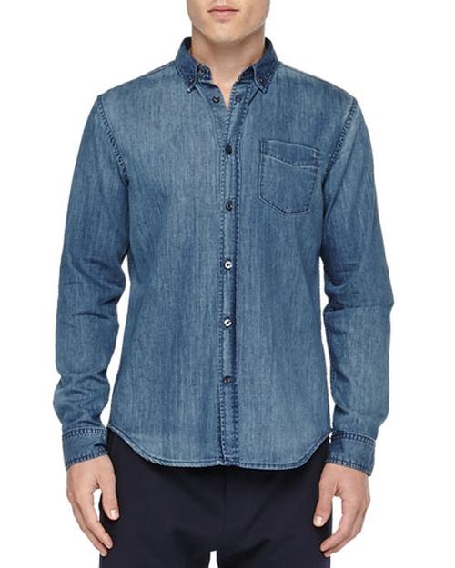 Denim Button-Down Shirt by Vince in Point Break