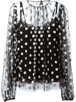 Polka Dot Blouse by Dolce & Gabbana in Empire
