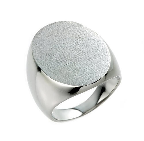 Plain Oval Top Signet Ring by Men's Signet Rings in The Last Witch Hunter