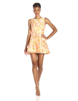 Cherry Blossom Jacquard Fit & Flare Dress by Cynthia Rowley in Scream Queens