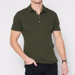 Raw Pocket Polo Shirt by 7 For All Mankind in Flaked