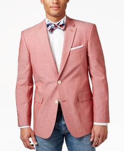 Chambray Classic Fit Sport Coat by Tommy Hilfiger in Ballers