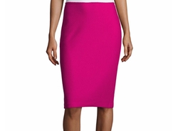 Honeycomb-Knit Pencil Skirt by St. John Collection in Scream Queens