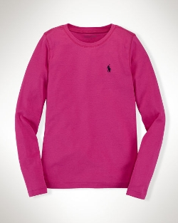 Long Sleeve Cotton T-Shirt by Ralph Lauren in Poltergeist