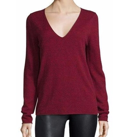 Melange V-Neck Pullover Sweater by Zadig & Voltaire in Quantico