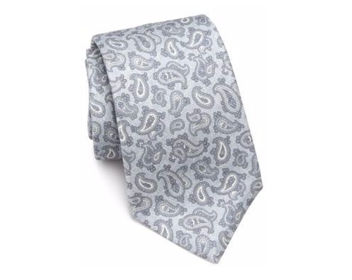 Paisley Printed Silk Tie by Kiton in The Blacklist - Season 4 Episode 4