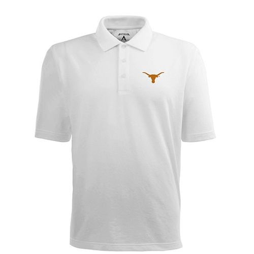 Pique Xtra Lite Polo Shirt by Antigua Texas Longhorns in My All American
