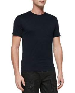 Pocket Crewneck Tee Shirt by Ralph Lauren Black Label in While We're Young