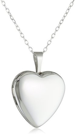 Sterling Silver Heart Shaped Locket Necklace by Momento Lockets in The Best of Me