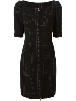 Cutting Pattern Print Dress by Moschino in The Good Wife
