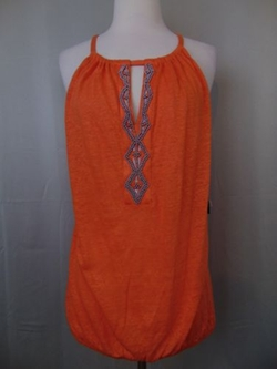 Beaded Keyhole Linen Halter Top by Inc International Concepts in Jane the Virgin