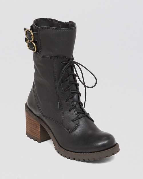Lace Up Lug Sole Combat Boots - Nylah by Lucky Brand in Maze Runner: The Scorch Trials