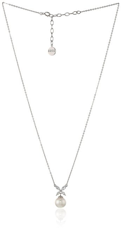 Pearl Cubic Zirconia Pendant Necklace by Majorica in Pretty Little Liars - Season 6 Episode 4