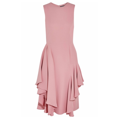 Ruffled Silk-Crepe Dress by Alexander McQueen in Suits