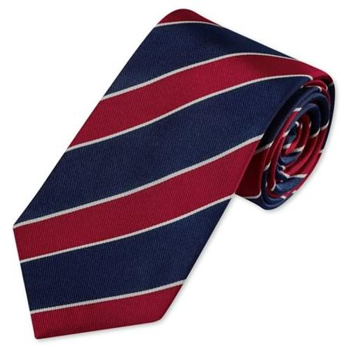Woven Club Stripe Tie by Charles Tyrwhitt in Unbroken