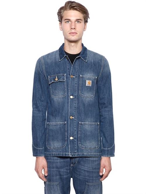 Michigan Chore Cotton Denim Jacket by Carhartt in Midnight Special