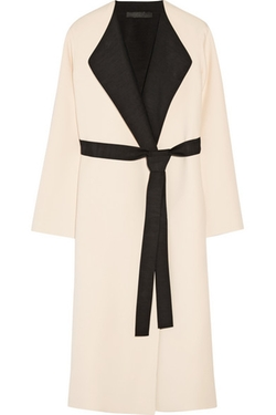 Augustus Two-Tone Wool And Silk-Blend Wrap Coat by The Row in Jessica Jones