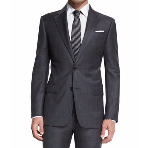 G-Line Sharkskin Two-Piece Wool Suit by Armani Collezioni in Modern Family