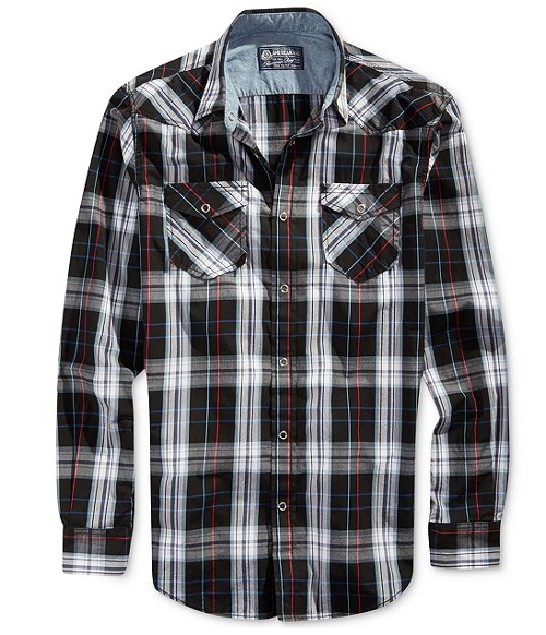 Nels Plaid Shirt by American Rag in Let's Be Cops