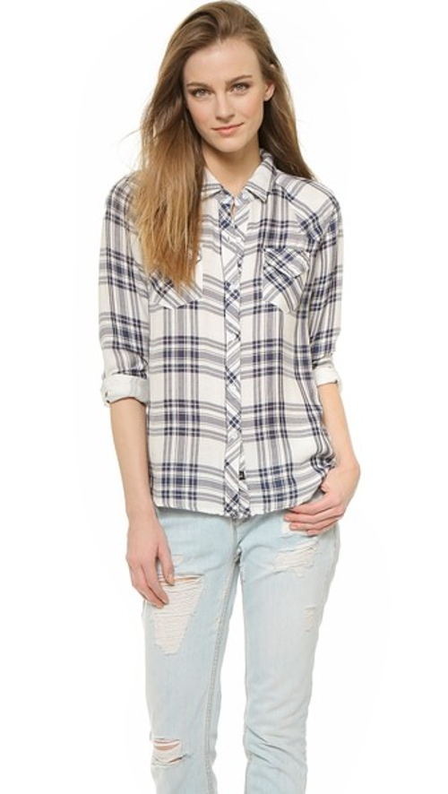 Kendra Button Down Top by Rails in Dope