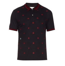 Bee And Star-Embroidered Cotton Polo Shirt by Gucci in Keeping Up With The Kardashians