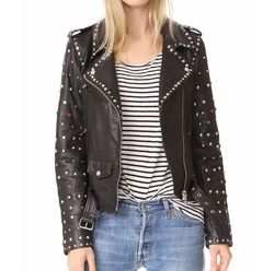 Studded Biker Jacket by Scotch & Soda/Maison Scotch in A Bad Moms Christmas