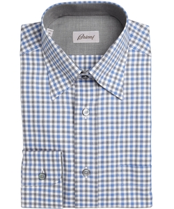 Gingham Point Collar Dress Shirt by Brioni in The Martian