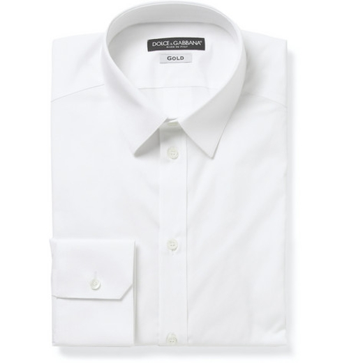 Cotton-Blend Shirt by Dolce & Gabbana in Entourage