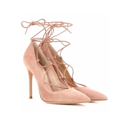 Femi Lace-up Suede Pumps by Gianvito Rossi in Molly's Game