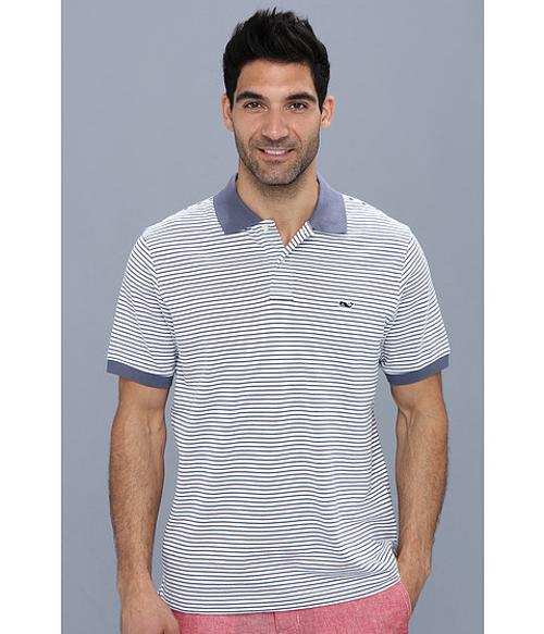 Classic Pique Polo-Shep Stripe Shirt by Vineyard Vines in Dolphin Tale 2