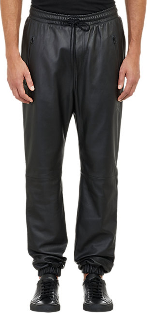 Leather Drop-Rise Jogger Pants by Barneys New York X Jordan in Empire - Season 2 Episode 2