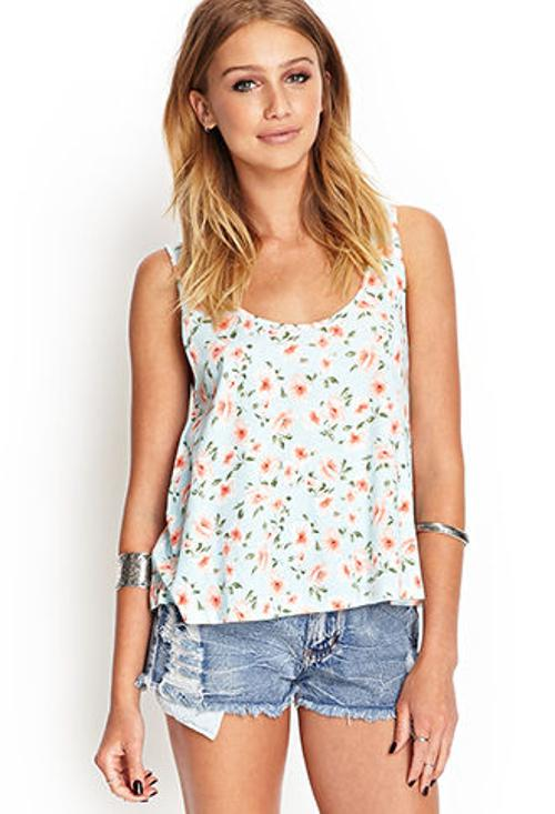 Floral Print Tank Top by Forever21 in We're the Millers