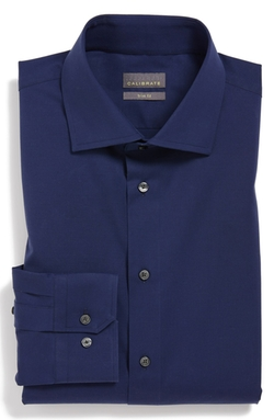 Trim Fit Dress Shirt by Calibrate in Into the Storm