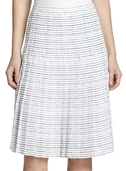 Pleated Stripe Skirt by Vince in Supergirl