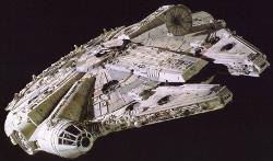 Millennium Falcon Ship by Ralph McQuarrie (Concept Artist) in Star Wars: The Last Jedi